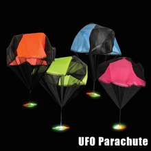 Light UFO Parachute Toys Speed Running Soldier Outdoor Sports Kids Games Play