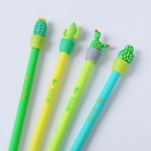 1 Pic Soft PVC Creative Cactus Animal Pet Gel Pen Promotional Gift Stationery School & Office Supply(China)