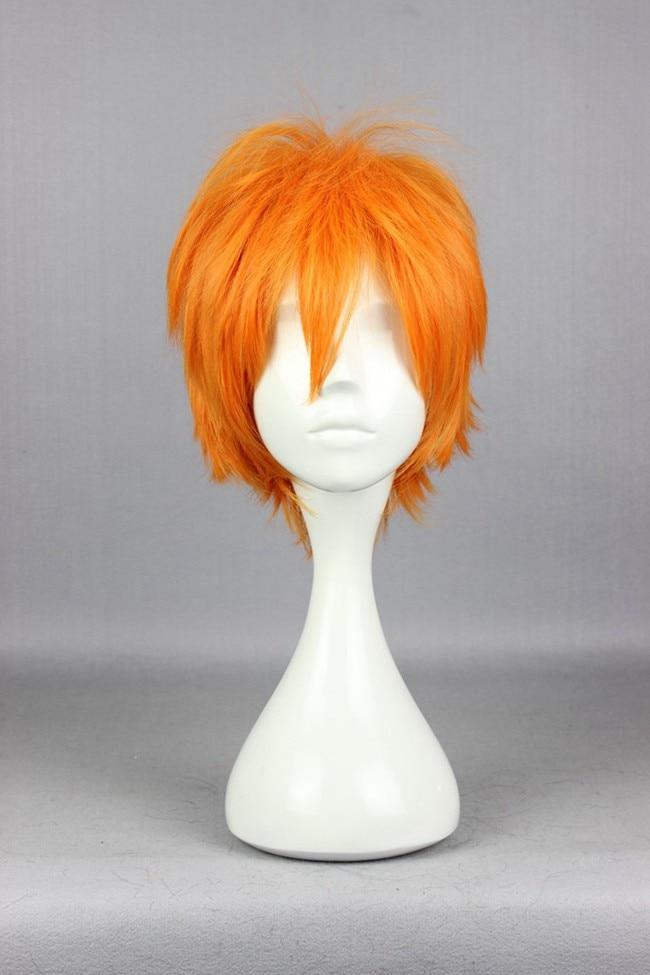 MCOSER New Cartoon pop 30cmHaikyuu!!Shoyo Hinata  orange  Short male anime  cosplay hair wig<br><br>Aliexpress