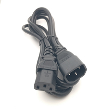 Male To Female Power Cord Extension Cable 1M 3.3FT 100 cm IEC 320 C14 To C13(China)