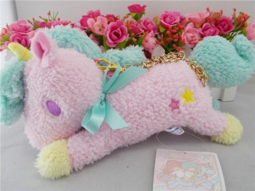 Sanrio Little Twin Stars Unicorn Pink Plush Wallet &amp;Coin Purse&amp; Mini Bag NEW Girls Gift<br><br>Aliexpress