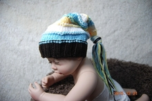Lovely Handmade Baby Pixie Elf Hat , Newborn Baby boys Stocking Caps perfect for photo props size:0-3 month