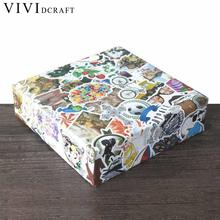 Vividcraft 108 pcs/lot Fashion Sticker Adhesive Printer Paper School Supplies Post It Nota De Papel Scrapbooking Handmade Labels(China)