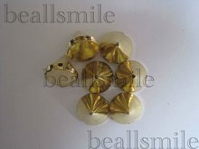 free shipping 2012fashion ABS 10mm gold plastic spike studs hand sewing on glue on nailhead  DIY jewelry accessories 1000pcs/lot