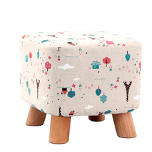 Solid wood home stool stools for shoes living room sofa stool adult short special pouf taburete poef chair with footrest(China)