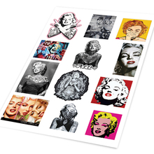 A4 Vintage Sexy Beauty Woman Band Rock Star Marilyn Monroe Guitar Sticker Guitar CD Player Laptop Skateboard Ipad DIY Decals(China)