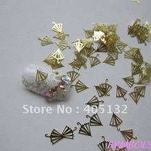 MS-154 Free Shipping Metal Gold Umbrella Nail Art Metal Sticker Nail Art Decoration Fancy Outlooking