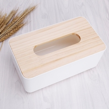 Tissue Box Dispenser Wooden Cover Paper Storage Holder Napkin Case Organizer(China)