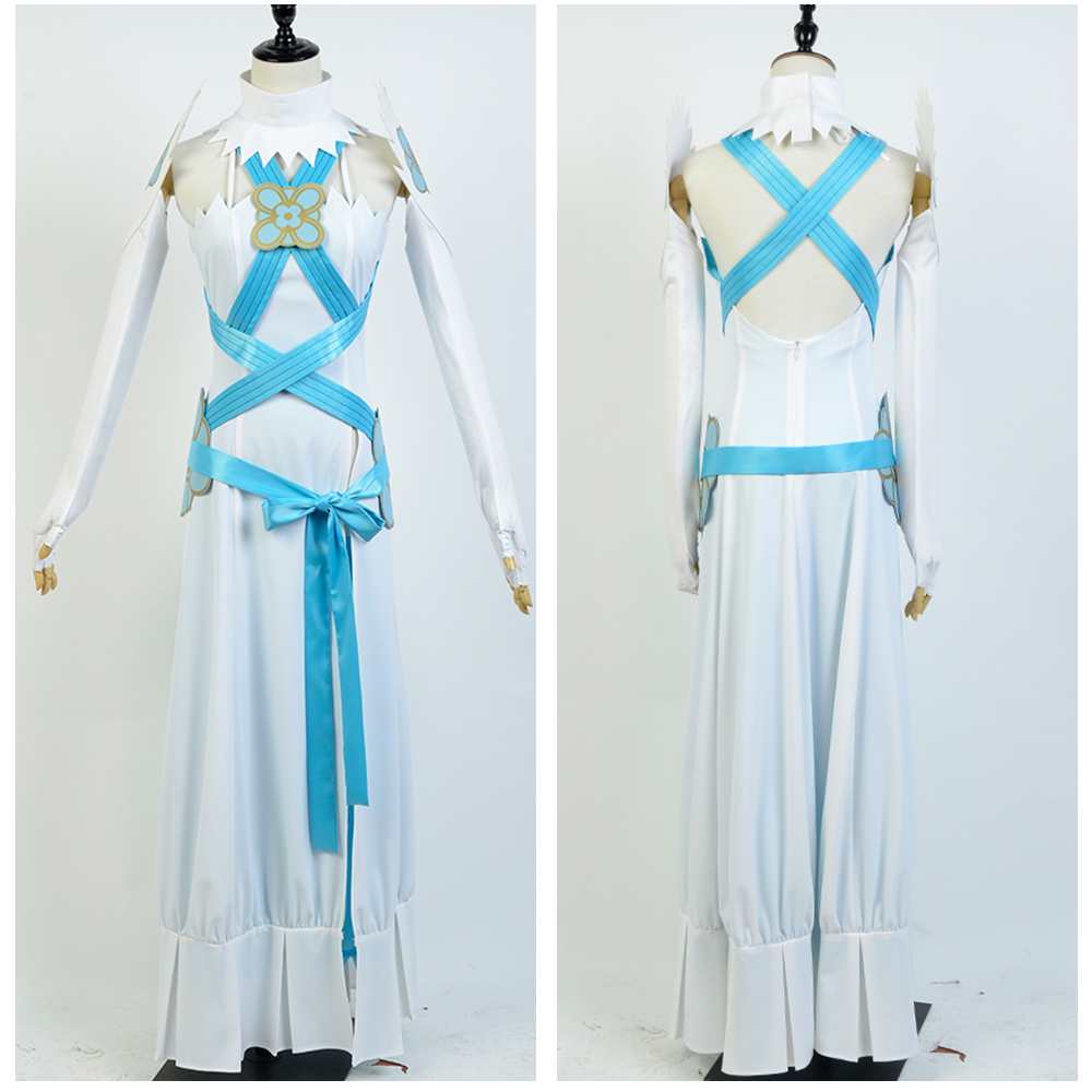 Fire Emblem Cosplay Costume If Fates Birthright Aqua Costume White&Blue Dress Set Uniform Cosplay Halloween Carnival Costume