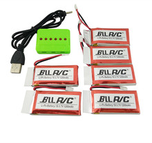 BLLRC hot model aircraft battery 6PCS 3.7V 1200mah with charger SYMA X5S X5SC X5SW helicopter upgrade parts wholesale