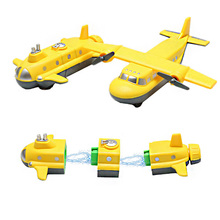 2pcs/set Plastic Magnetic Connection Assembling Airplane Toy Educational Building Kits Plane Submarine Kids Toys Juguetes Gift