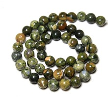 Wholesale Natural Old KAMBABA Round Stone Mix Color Beads For Jewelry Making DIY Bracelet Necklace 6/8/10 mm Strand 15.5''(China)