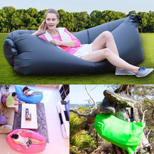 2016 New Fashion Solid Fast Inflatable Air Bag Beach Flatfish Sleeping Bed Air Sofa For Camping Hiking 10s Outdoor Sleeping Bags