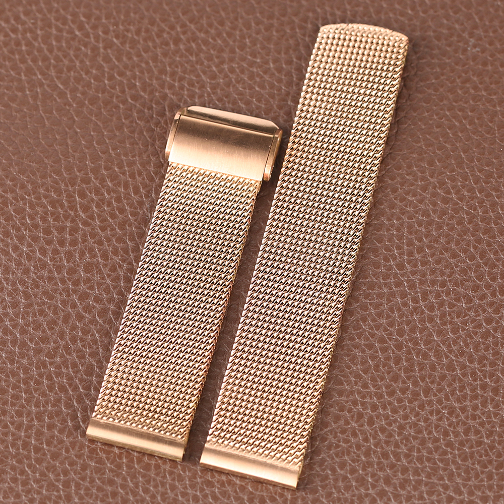 Rose Golden Stainless Steel Watch Band 2018 New Arrival 182022mm Women Men Wrist Band for HuaWei (10)