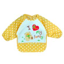 2017 Baby Toddler Boy Girl Bib Long Sleeve Waterproof Apron Feeding Art Apron Bib With Letter Smock Drop Shipping #Z30*(China)