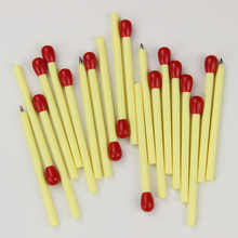 20PCS Kawaii Cartoon Plastic Ballpoint Pens Lovely Mini Matchstick Ball Pen Student Learning Writing stationery(China)