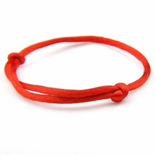 Buy Fashion Red Thread Charms Bracelet String Rope Braided Bangles Women Woven Men Adjustable Length Lucky Jewelry for $1.16 in AliExpress store