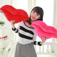 1pc New Novelty Funny Pink Red Lip shot Plush Toy Throw Pillow For Bed Living room Home Decoration chair pillows
