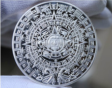 Mayan 2012 Prophecy silver Coin Free Shipping 10pcs/lot