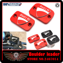 Motorcycle Accessories New Design 3D LOGO Brake Clutch Cylinder Reservoir Cover Cap For Ducati Monster 695 696 796 Hypermotard(China)