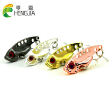 Hengjia 4cm 7g hard metal vib fishing lures blade sequins wobbler walleye crappie catfish baits pesca tackles - Trading store