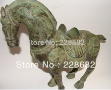 Metal Crafts Asian Antiques Rare China Bronze Horse Statue fast Shipping