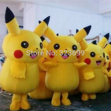 Selling Pikachu Mascot Costume Cartoon Character Costumes Mascot Costume Fancy Dress Party Suit pokemon go  Mascot Costume