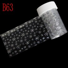 100*4cm 3D Nail Art Sticker Decals 15 Designs Silver Laser Transfer Nail Foil Roll UV Gel Nail Art Decorations Material Supply