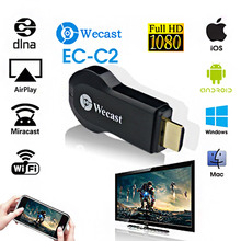 C2 Wecast miracast hdmi dongle Smart Android wireless TV stick screen mirroring like chromecast Support samsung iphone win8.1