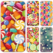 Colorful Fruit Sweet Candy Bus Geometric Pattern Design Case For iphone 5 5S SE Soft Silicon TPU Capa Back Cover Phone Cases