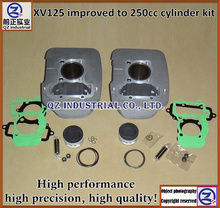Higher performance more powerful good quality for YAMAHA motorcycle engine parts XV125 improved to 250cc cylinder kit
