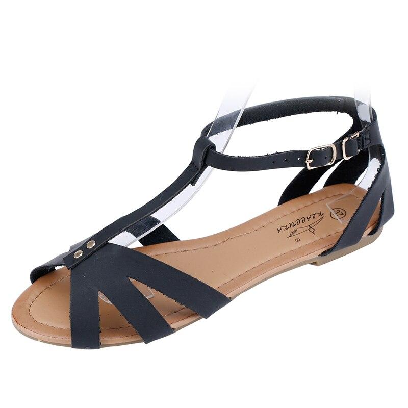 Buckle Strap Women sandals fashion 2017 new Cover Heel open-toed sandals women hollow fish head flat sandals women<br><br>Aliexpress