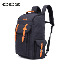 "CCZ 2017 Travel Backpack Fashion Rucksack 14"" Laptop Bag Mens Backpack Large Capacity Back Shoulders Bag Pack Backbag BK8012(China)"