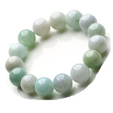 Natural Myanmar Green Jade Bracelet 13MM beads Fashion Temperament Jewelry Gems Accessories Gifts Wholesale(China)