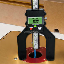 High quality Self-standing digital depth gauge 80mm for router table Woodworking Measuring Tools With Magnetic Feet(China)