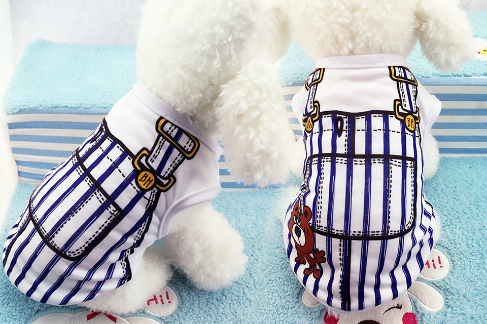 PET Cheap Dog Clothes With Free Shipping Mesh Cute Dog Vest 8 Cartoon Styles Spring Summer Dog Clothes For Small Dogs 611