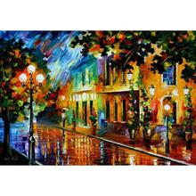 Landscape Oil painting pictures night flowers palette knife canvas wall art modern home decor