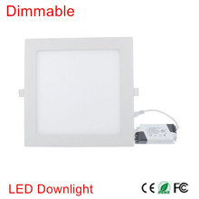 Ultra thin 25W LED Down light AC85-265V Recessed Dimmable LED Ceiling Light with Driver LED Panel Light Warm/Natural/Cold White(China)