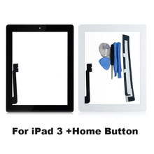 KEFU Tablet Touch Screen for iPad 3 iPad3 A1416 A1430 A1403 Digitizer Glass Panel 9.7 inch with Home Button + Gift(China)