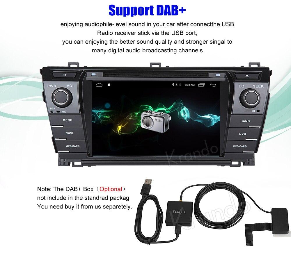 Krando toyota corolla Android car radio gps navigation multimedia system (6)