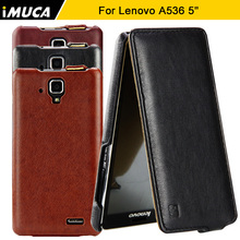 for Lenovo A536 Case Flip leather cover for Lenovo A536 A 536 A358T Mobile Phone cases accessories iMUCA brand with tracking(China)