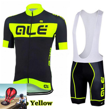 New Style 2017 Team ALE Cycling Jerseys Breathable /Quick-Dry Ropa Ciclismo Short Sleeve Bike Clothing Racing Team Sportswear(China)