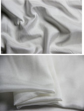 Sold By Meter Wholesale White Solid Cotton Dress Material Natural Silk Fabric