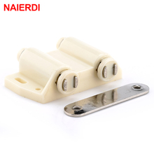 NAIERDI Double Magnetic Cabinet Catches Kitchen Door Stopper Drawer Latch Soft Close Push to Open For Furniture Hardware