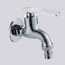 Bibcocks Chrome Brass Washing Machine Faucet Wall Mounted Pool Sink Tap Also For Garden Use Outdoor Bathroom Taps ZJ-6207(China)