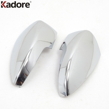 Kadore Car Styling Fit For Ford Kuga/Escape 2013 2014 ABS Chrome 2pcs Auto Side Door Rearview Rear View Mirror Cover Trim Frame