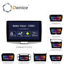 "Ownice C500+ Octa Core 10.1""/9"" Android 6.0 Car Radio DVD player GPS For VW Magotan POLO PASSAT Golf 7/R/GTE Tiguan Touran Jetta"