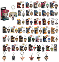 The Avengers Captain America FUNKO POP Keychain KeyRing Hanger Iron Man Hulk Thor Jhon Snow PVC Action Figure Collection Toys