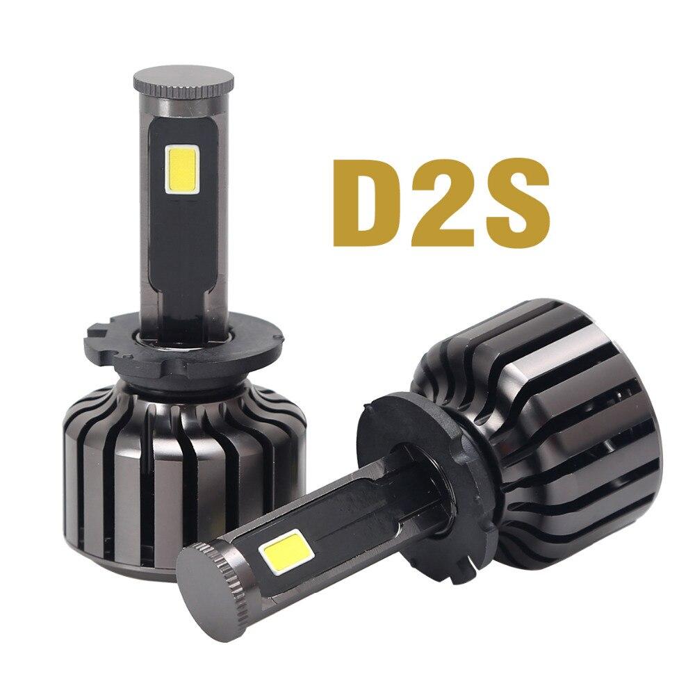 90W 9000LM COB Cree LED Chip D2S Car Auto Headlight Conversion Headlight Kit Driving Lamp Fog DRL Light 6000K Bulb Farol De Led<br><br>Aliexpress