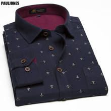 PaulJones DM90x 2017 Plus size 11XL New Model Fancy Print Men Shirts Big Size Male Blouse Men's Casual 100% Cotton Asian Clothes(China)